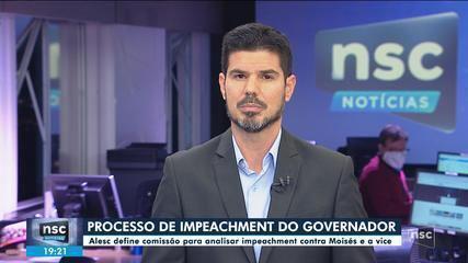 Alesc aprova nomes da comissão que vai analisar pedido de impeachment do governador