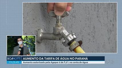 Tarifa de água vai subir em outubro no Paraná