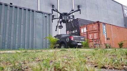 Drone auxilia PMs em operações policiais