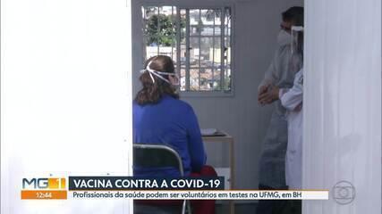 Profissionais da saúde pode ser voluntários em testes de vacina pela UFMG, em BH