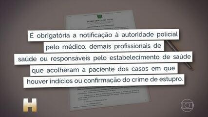 Portaria obriga médicos a comunicar à polícia todos os casos de aborto por estupro