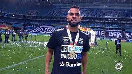 Maicon fala da final contra o Caxias e tetracampeonato pelo Grêmio