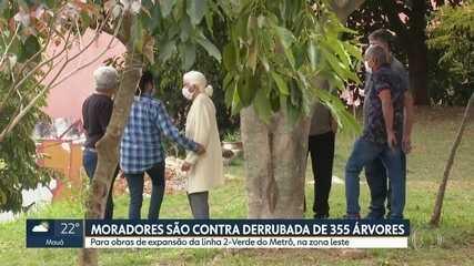 Moradores do Jardim Têxtil são contra derrubada de 355 árvores para canteiro de obras