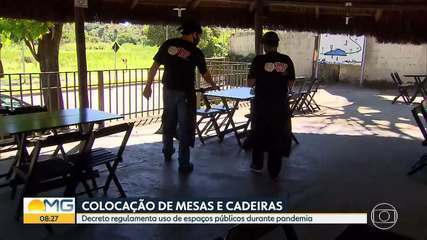 BH: Prefeitura regulamenta uso de mesas e cadeiras em espaços públicos durante pandemia