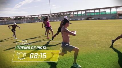Diário Time Brasil: velocistas mostram rotina de treinos do atletismo brasileiro em Portugal