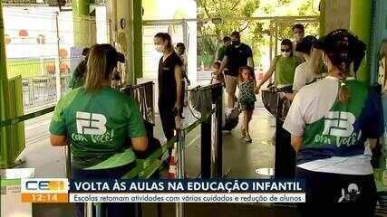 Escolas da educação infantil retomam atividades com normas de segurança