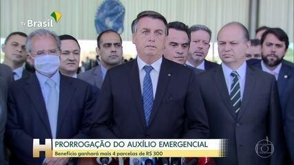 Bolsonaro diz que Auxílio Emergencial será de R$ 300 por mais 4 meses