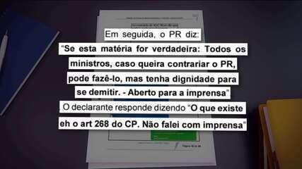 Interferência na PF: Em mensagem, Bolsonaro sugeriu a Moro 'dignidade para se demitir'