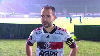 """Everton Ribeiro exalta a vitória do Flamengo sobre o Bahia: """"Foi um grande jogo"""""""
