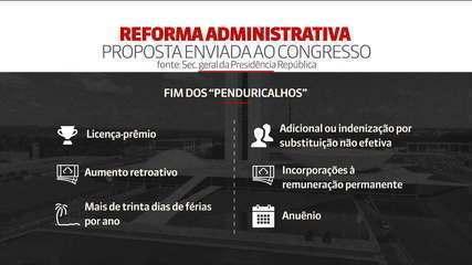 Reforma administrativa pretende extinguir 'penduricalhos'