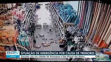 Cidades do recôncavo baiano decretam estado de emergência por causa dos tremores de terra