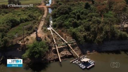 Mesmo com bancos de areia a captação de água continua na bacia do rio Formoso