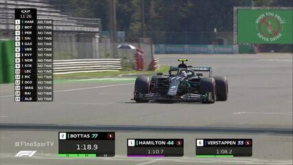 Hamilton e Bottas lideram o treino do GP da Itália