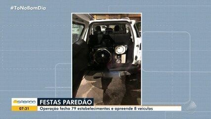 Operação fecha 79 estabelecimentos e apreende 8 veículos em Salvador