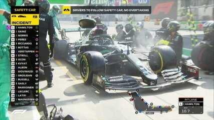 GP da Itália: Hamilton entra nos boxes durante o safety car