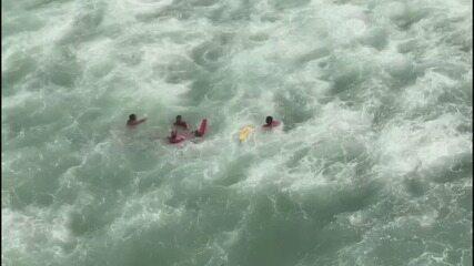 Bombeiros registram 380 ocorrências no mar durante fim de semana em praias de SP