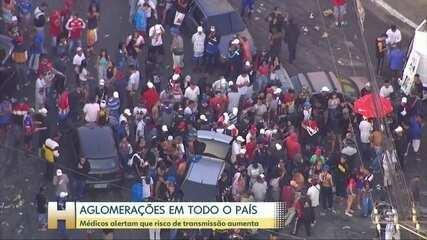 Aglomeração de 7 de setembro: brasileiros lotam praias, bares e parques no feriado