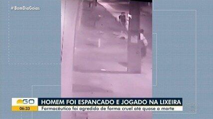 Farmacêutico é assaltado, espancado e abandonado em caçamba de lixo, em Goiás