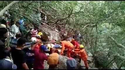 Homem é resgatado após ficar horas preso sob rochas no Sertão de Alagoas