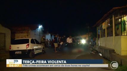 Três assassinatos aconteceram em menos de 2h nessa terça-feira em Teresina