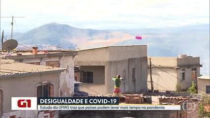 UFMG: Países com desigualdade social vão demorar mais para sair da pandemia
