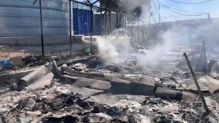 Incêndio destrói maior campo de refugiados da Europa, na ilha de Lesbos na Grécia