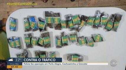 Presos suspeitos de participar de tráfico de drogas na Região Metropolitana de Porto Alegre