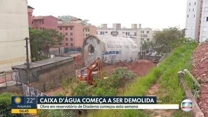 Caixa d´água que desabou em Diadema começa ser demolida nesta sexta