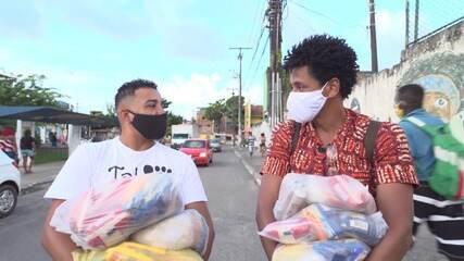 Em Paripe, Daniel Araújo promove ação que recolhe e distribui alimentos para carentes