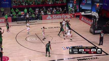 Melhores momentos: Boston Celtics 92 x 87 Toronto Raptors pela NBA