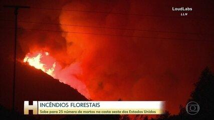 Sobe para 25 número de mortos nos incêndios florestais na costa oeste dos Estados Unidos