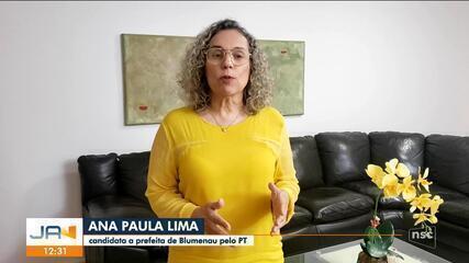 Eleições 2020: Ana Paula Lima será a candidata do Partido dos Trabalhadores em Blumenau