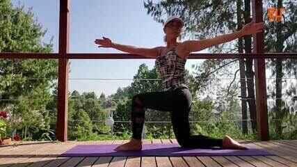 A fisiologista Gerseli Angeli ensina exercícios importantes para a prevenção de dores nas costas