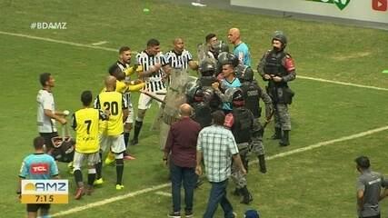Jogadores do Treze e policiais entram em confronto e trocam agressões