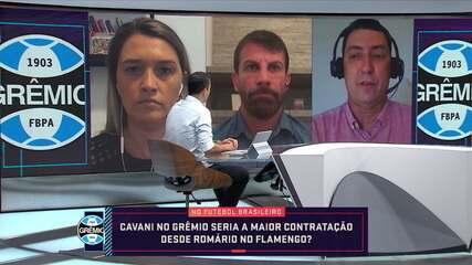 Seleção repercute se possível contratação de Cavani pelo Grêmio seria a maior no Brasil desde Romário no Flamengo