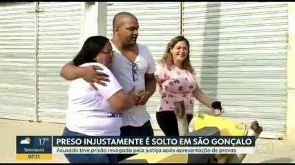 Homem preso injustamente é solto em São Gonçalo