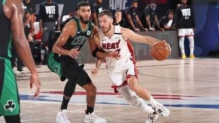 Melhores momentos de Miami Heat 117 x 114 Boston Celtics pela NBA