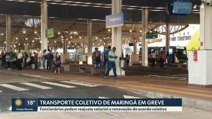 Funcionários do transporte coletivo fazem greve em Maringá