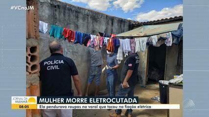 Mulher morre após tomar choque enquanto pendurava roupas em varal na cidade de Barreiras