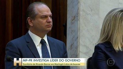 Escritório de Ricardo Barros, líder do governo Bolsonaro, é alvo de buscas do MP