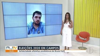 Solidariedade oficializa candidatura de Bruno Calil à Prefeitura de Campos, no RJ