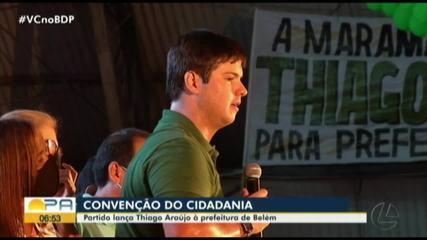 CIDADANIA lança Thiago Araújo como candidato à prefeitura de Belém