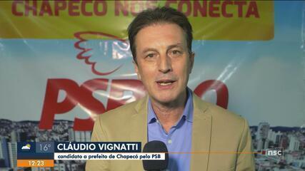 Eleições 2020: PSB define candidato a prefeito de Chapecó