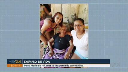 Idosa de 107 anos se recupera do coronavírus