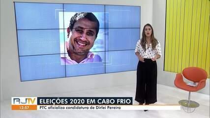 PTC oficializa candidatura de Dirlei Pereira à Prefeitura de Cabo Frio, no RJ