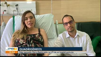 Enfermeira dá à luz quadrigêmeos, em João Pessoa