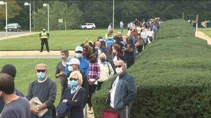 Nos EUA, votação para presidente já começou e com longas filas