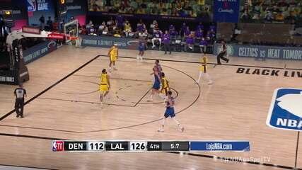 Melhores momentos: Los Angeles Lakers 126 x 114 Denver Nuggets, pela NBA