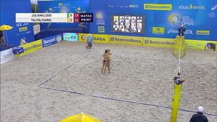 Os pontos finais de Talita e Carol Solberg x Josi e Juliana pelo Circuito Brasileiro de Vôlei de Praia