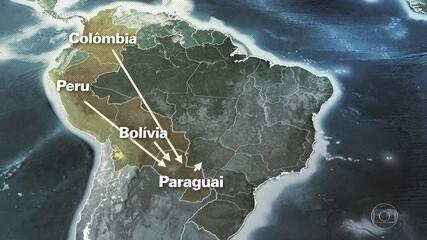 Vídeo mostra caçada aérea a traficantes que trazem toneladas de cocaína para o Brasil